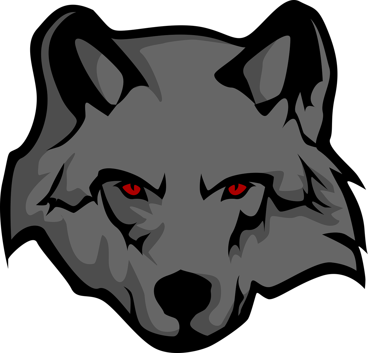 Картинка смайл волк
