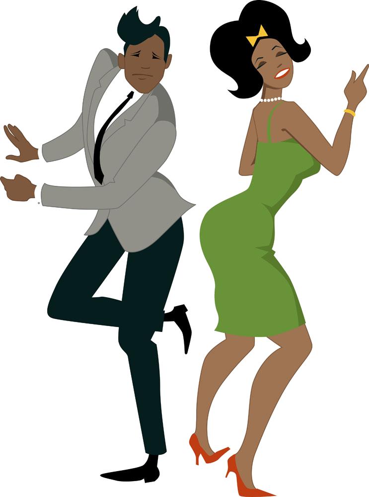 1960s 1950s Dance Twist - African American Couple Dancing ...