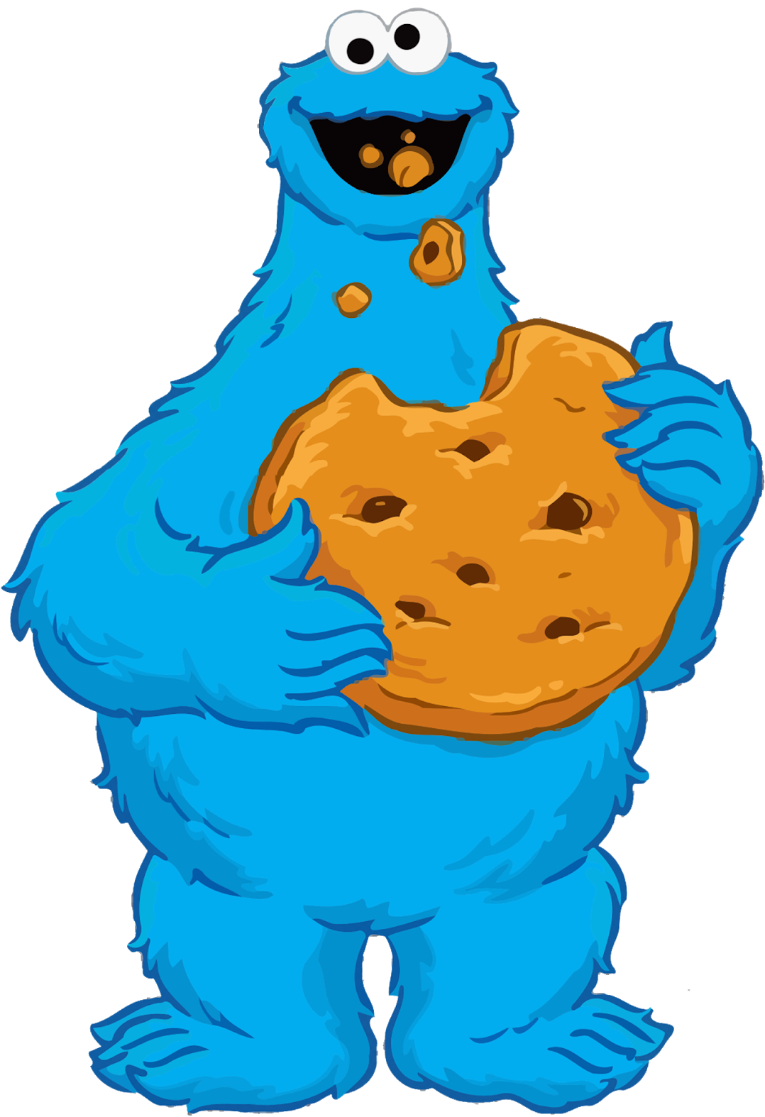 Download Printable Cookie Monster Birthday Card Clipart ...