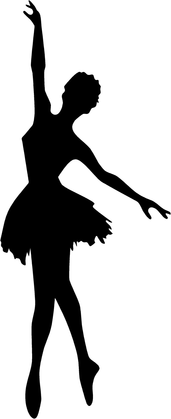 Картинка балерина силуэт черный