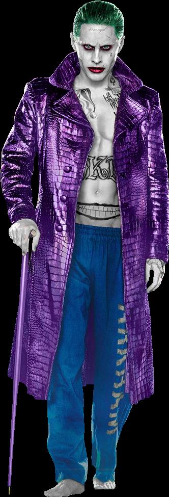Suicide Squad Joker Png Clip Art Free Joker Suicide Squad Trench Coat Transparent Png Full Size Clipart 578713 Pinclipart