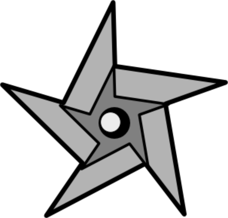 Twinkle Cliparts - Ninja Star Clipart - Png Download ...