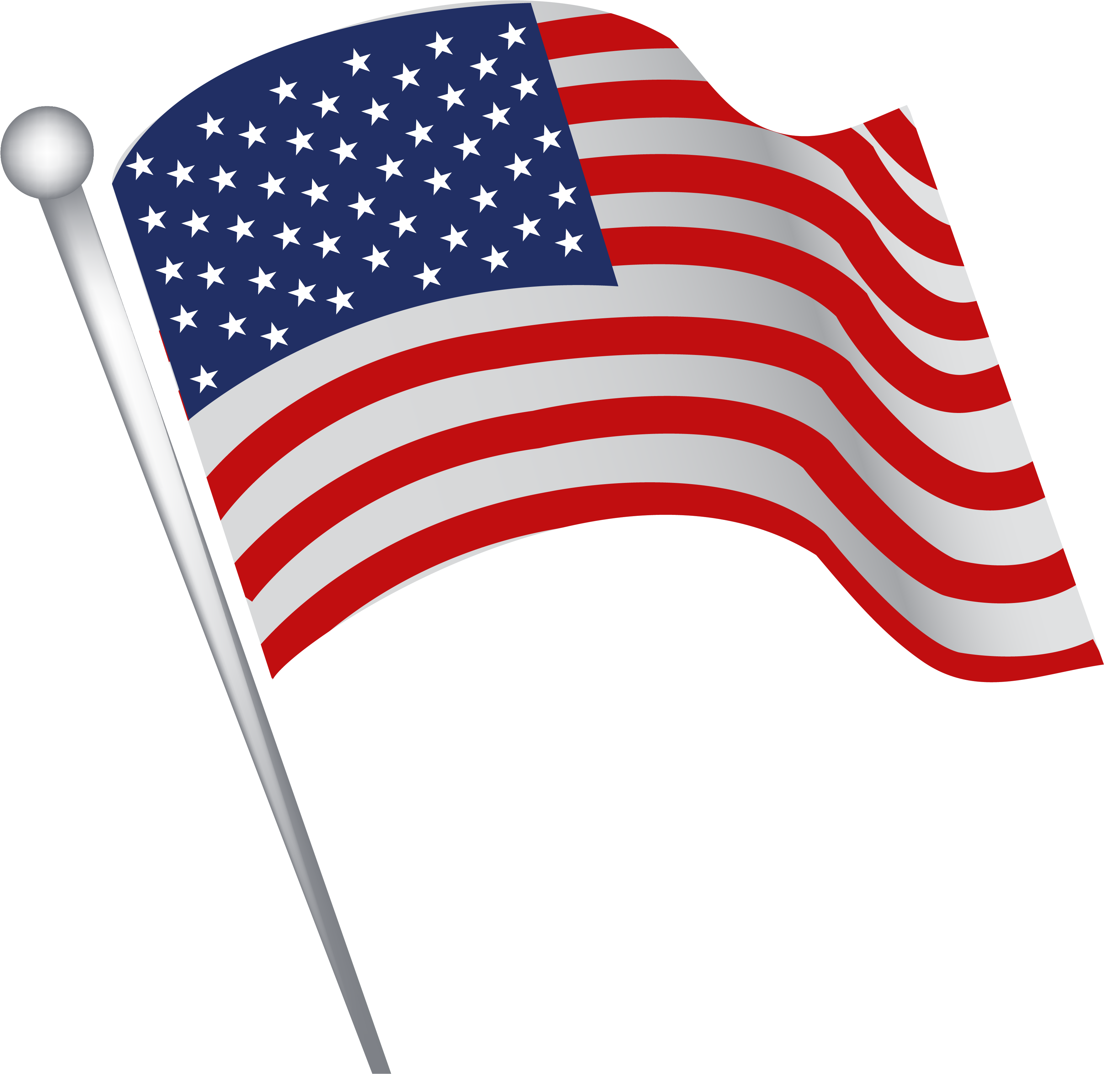 Transparent Fourth Of July Banner Clipart American Flag Waving Cartoon Png Download Full Size Clipart 5759010 Pinclipart