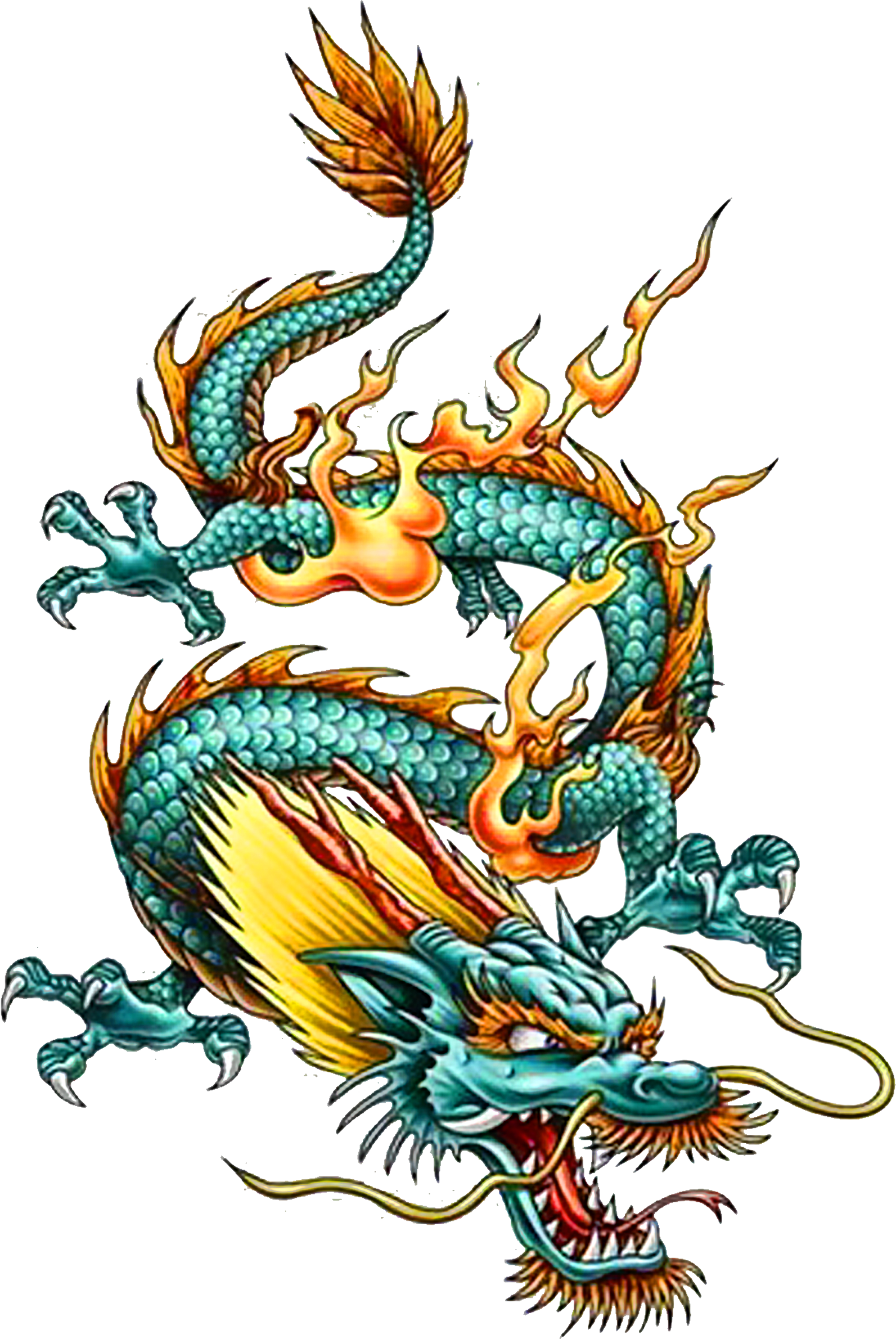 Tattoo Chinese Dragon China Legendary Creature Clipart ...