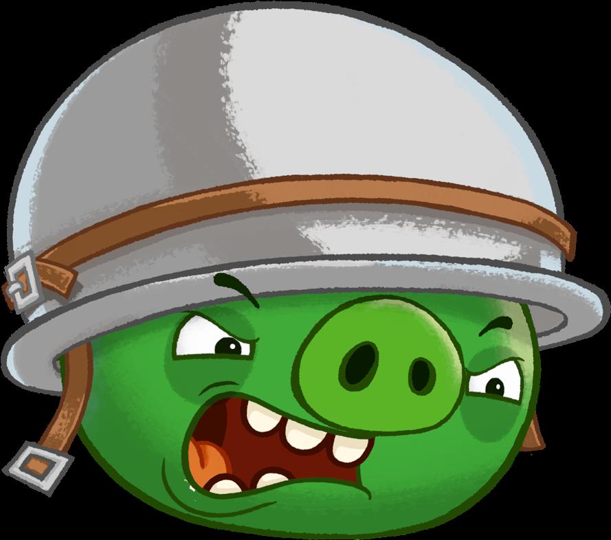 Картинка свиньи из энгри бердз