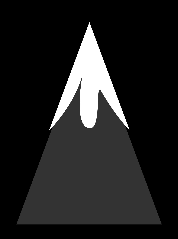 Mountain Peak Clipart Black And White Hidef Mountain - Mountain
