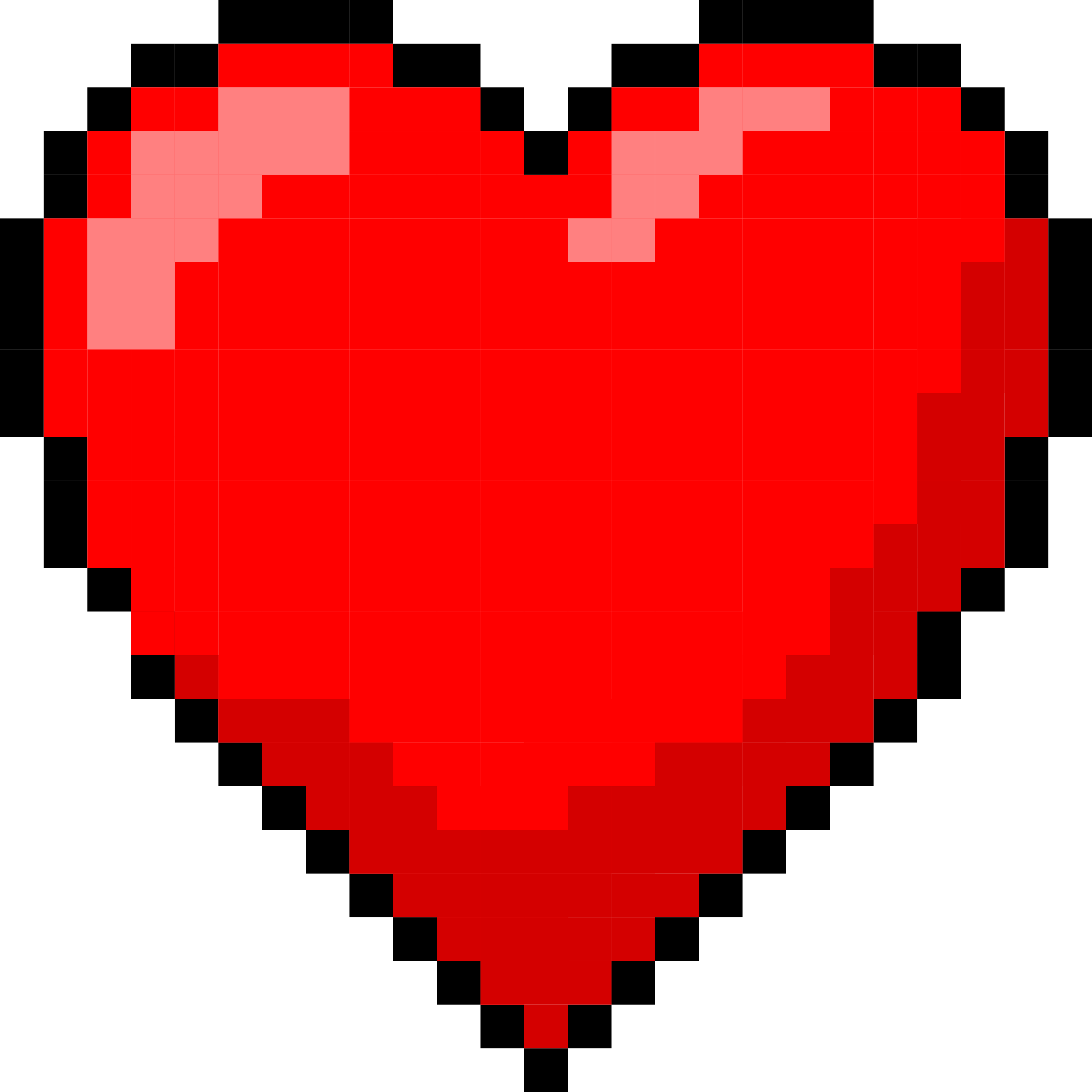 6 Pixel Heart - Pixel Art Heart Png Clipart - Full Size ...