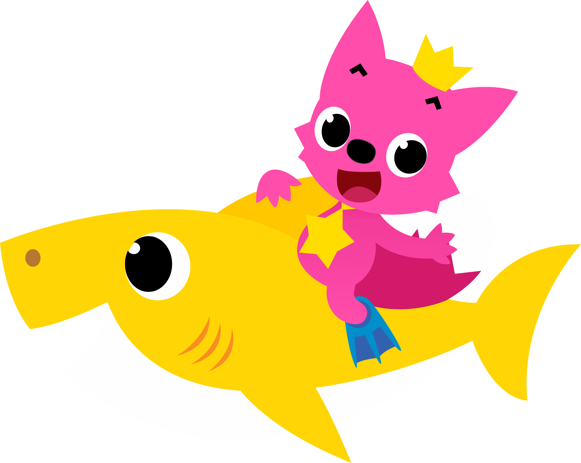 Baby Shark Png Pink Fong Clipart - Full Size Clipart ...
