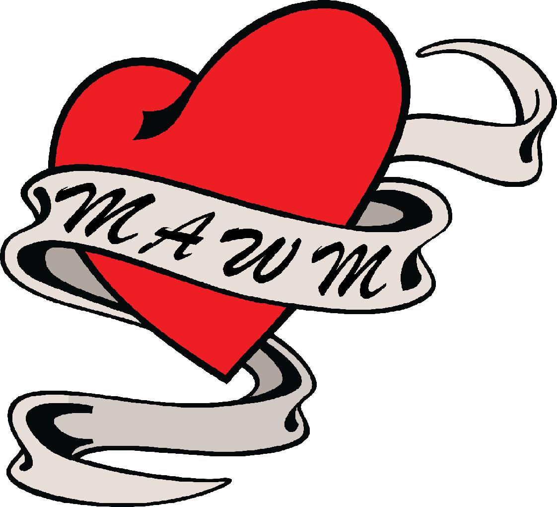 Mawm Heart Ribbon Tattoo Designs Clipart Full Size Clipart 595820 Pinclipart