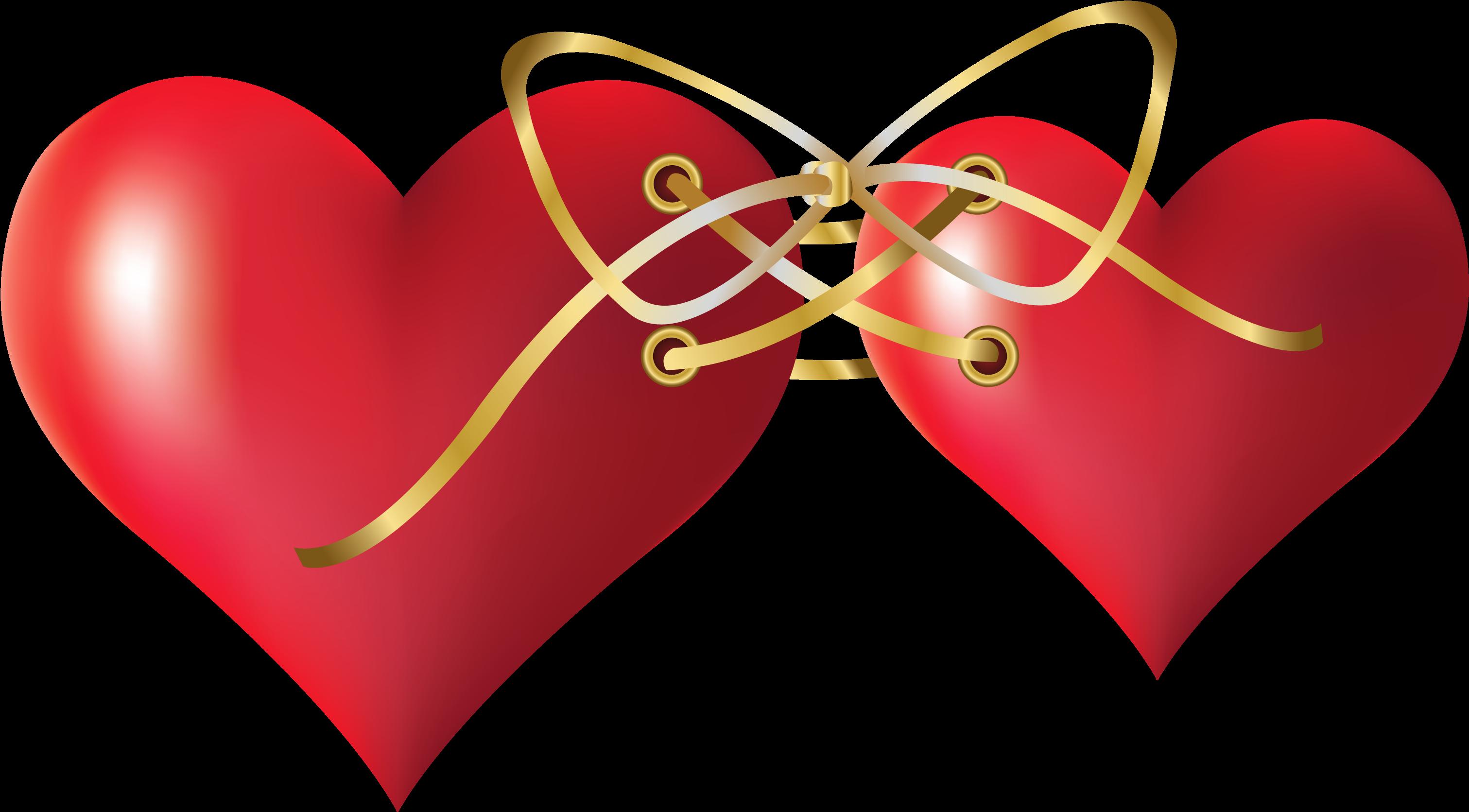 Открытки двойные сердечками