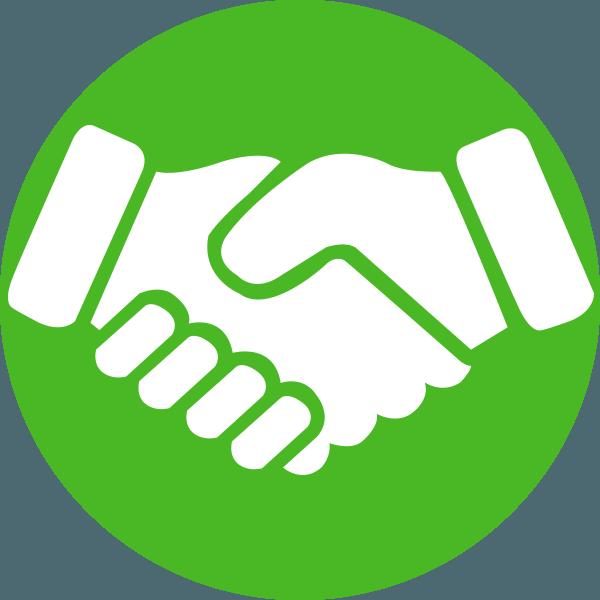 Handshake Clipart Brotherhood - Shaking Hands Icon Green ...