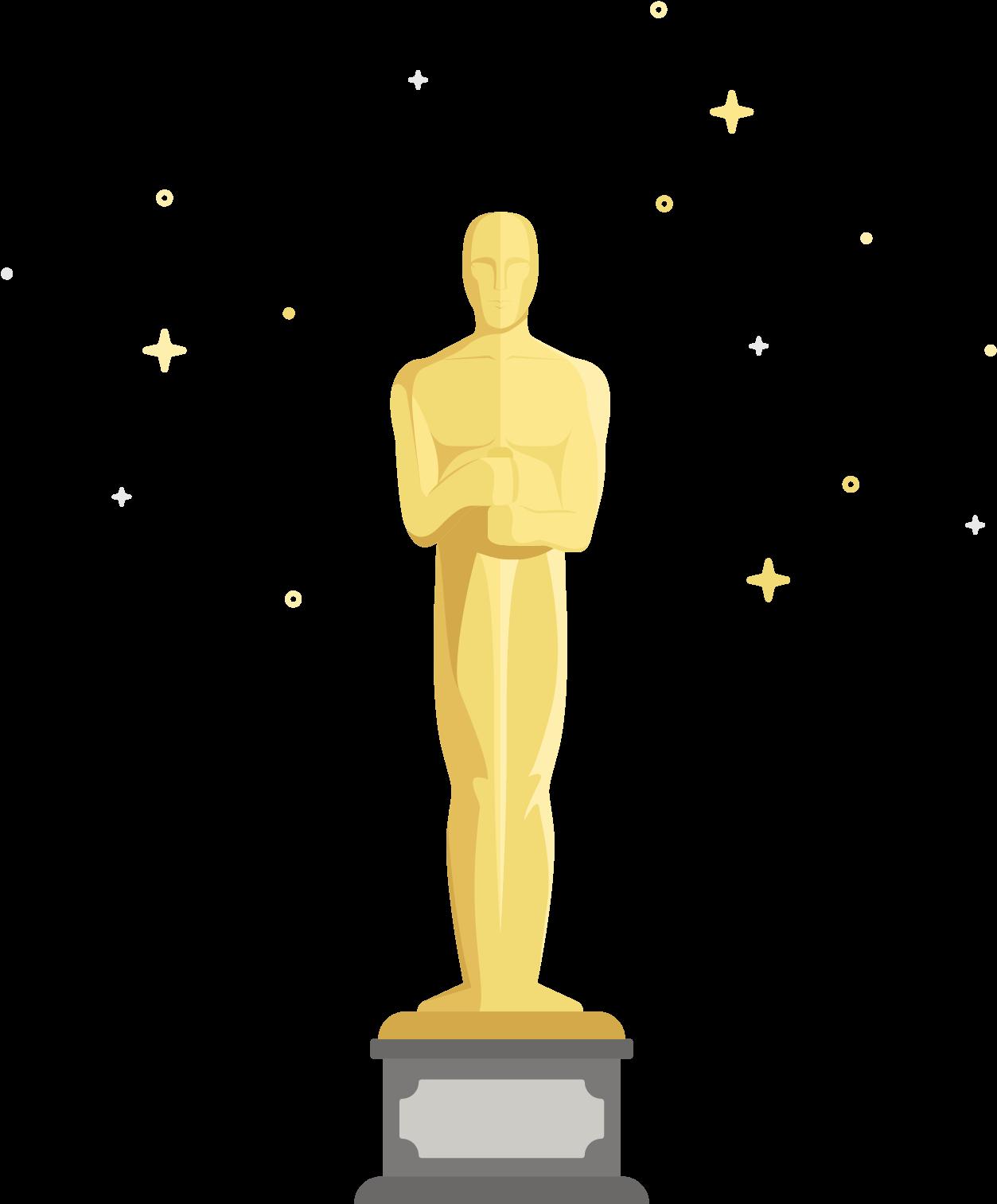 Oscar Clipart Figurine Oscars Statue Cartoon Png