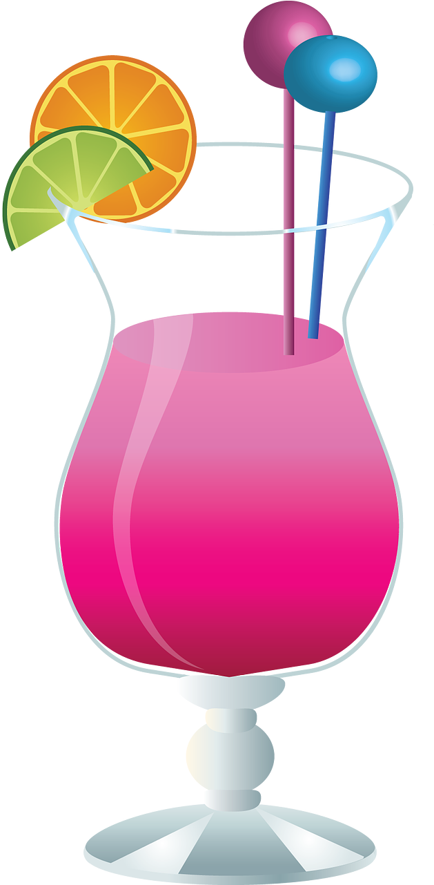Glass,bar - Pink Cocktail Tile Coaster Clipart (642x1280), Png Download