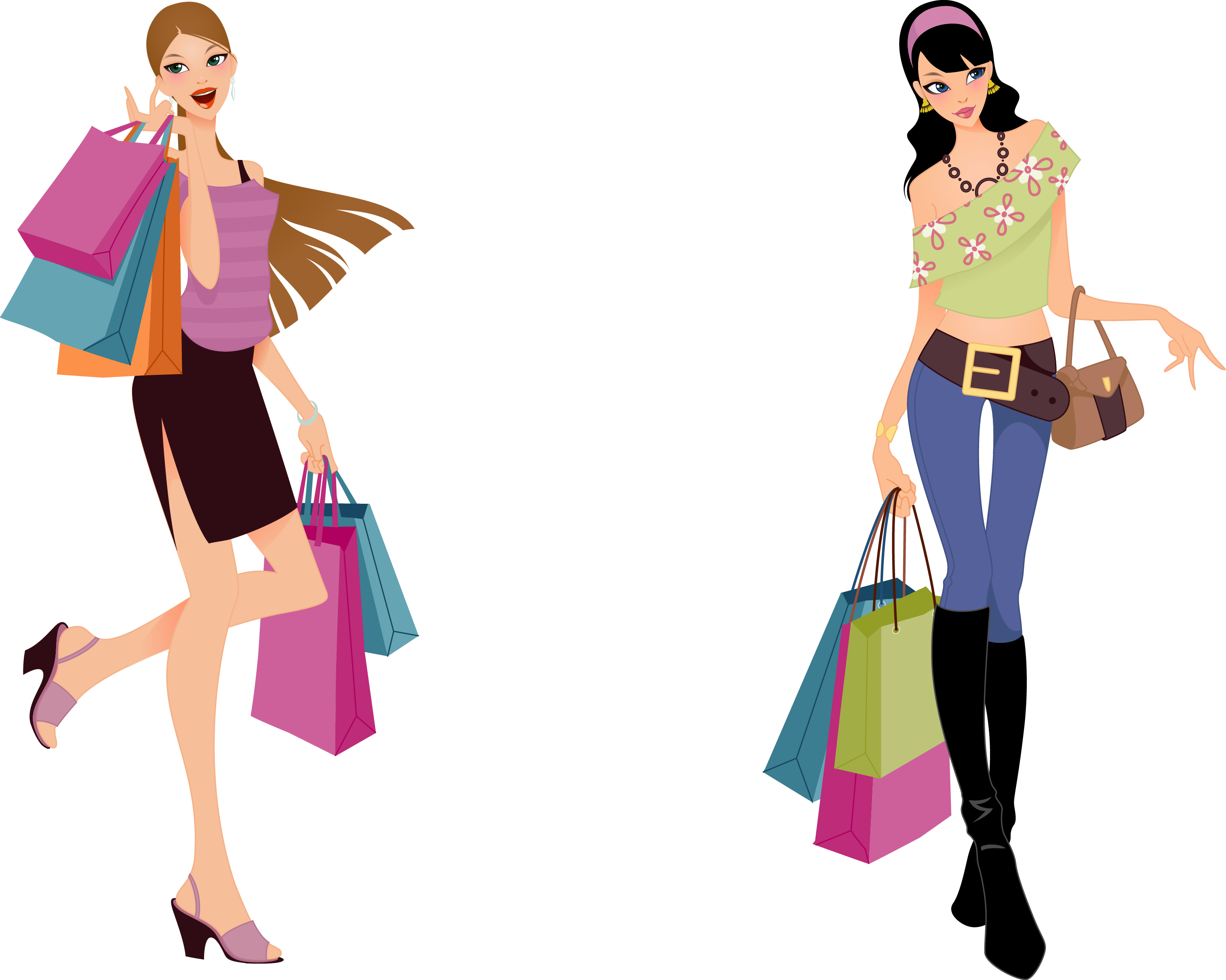 Picture Download Beauty Vector Fashion Sketch Fashion Shopping Clipart Full Size Clipart 665108 Pinclipart