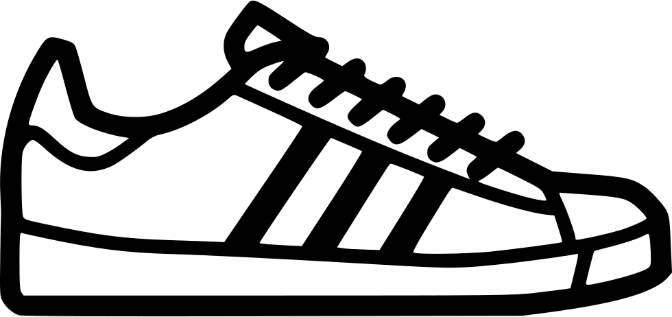 Footprint Svg Tennis Shoe Vector Black And White Stock Adidas Shoes Icon Png Clipart Full Size Clipart 667082 Pinclipart