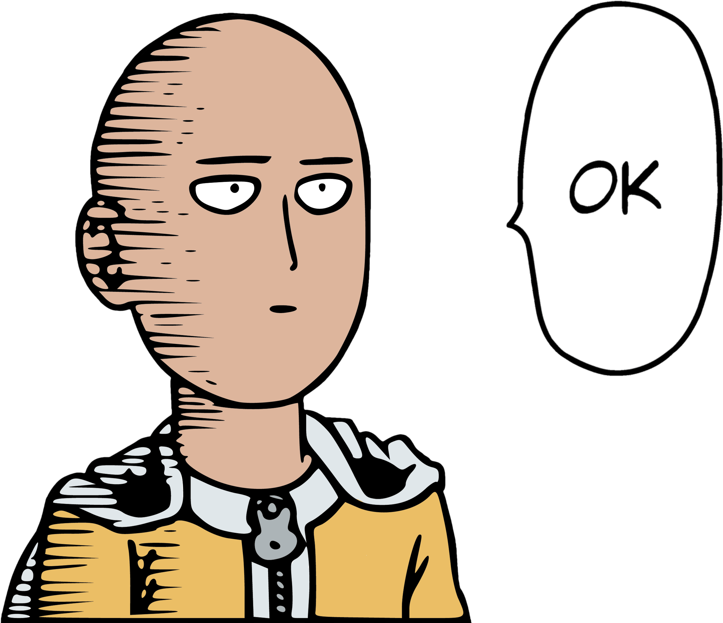 Ok Face Cliparts - Saitama Ok One Punch Man - Png Download ...