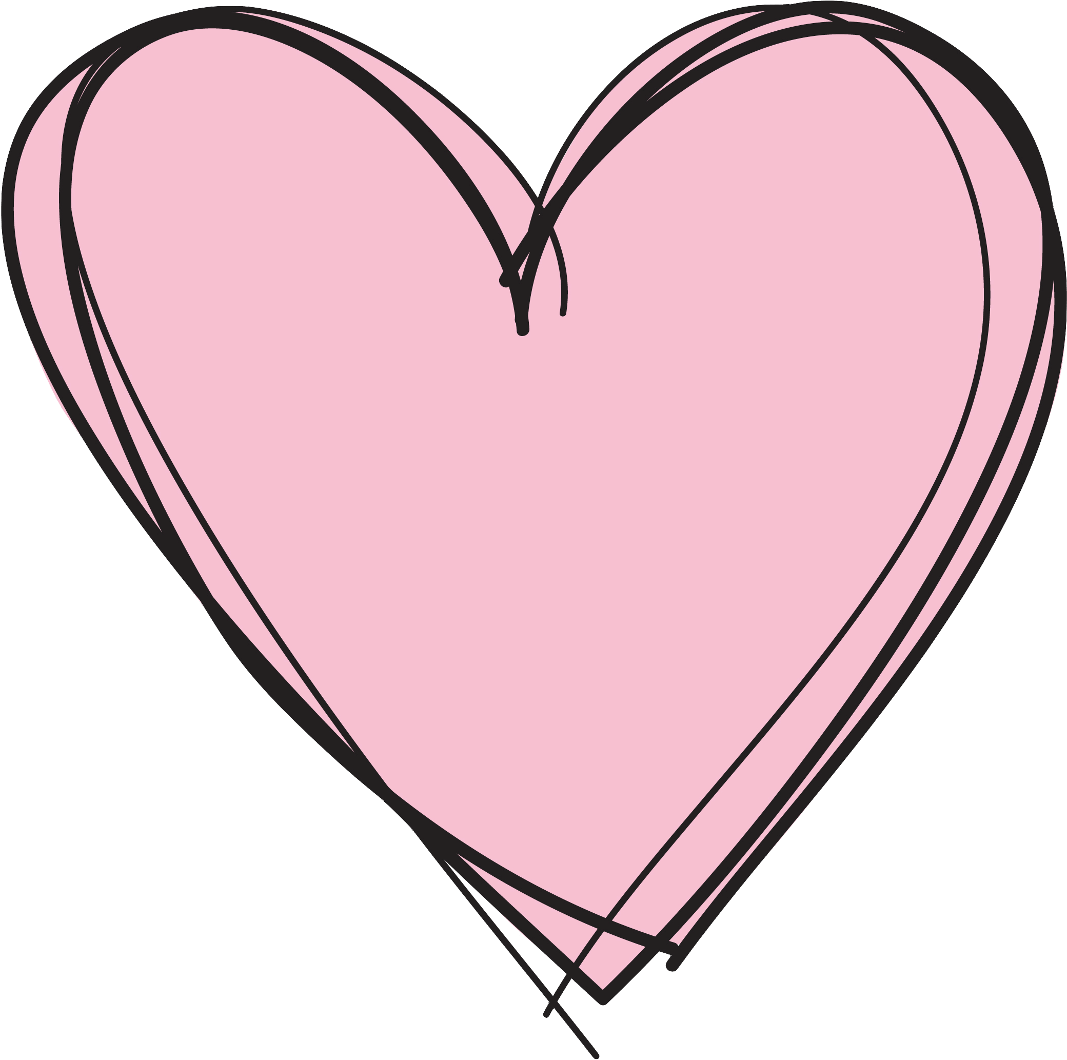 Pink Heart Clipart No Background Cute Transparent Background