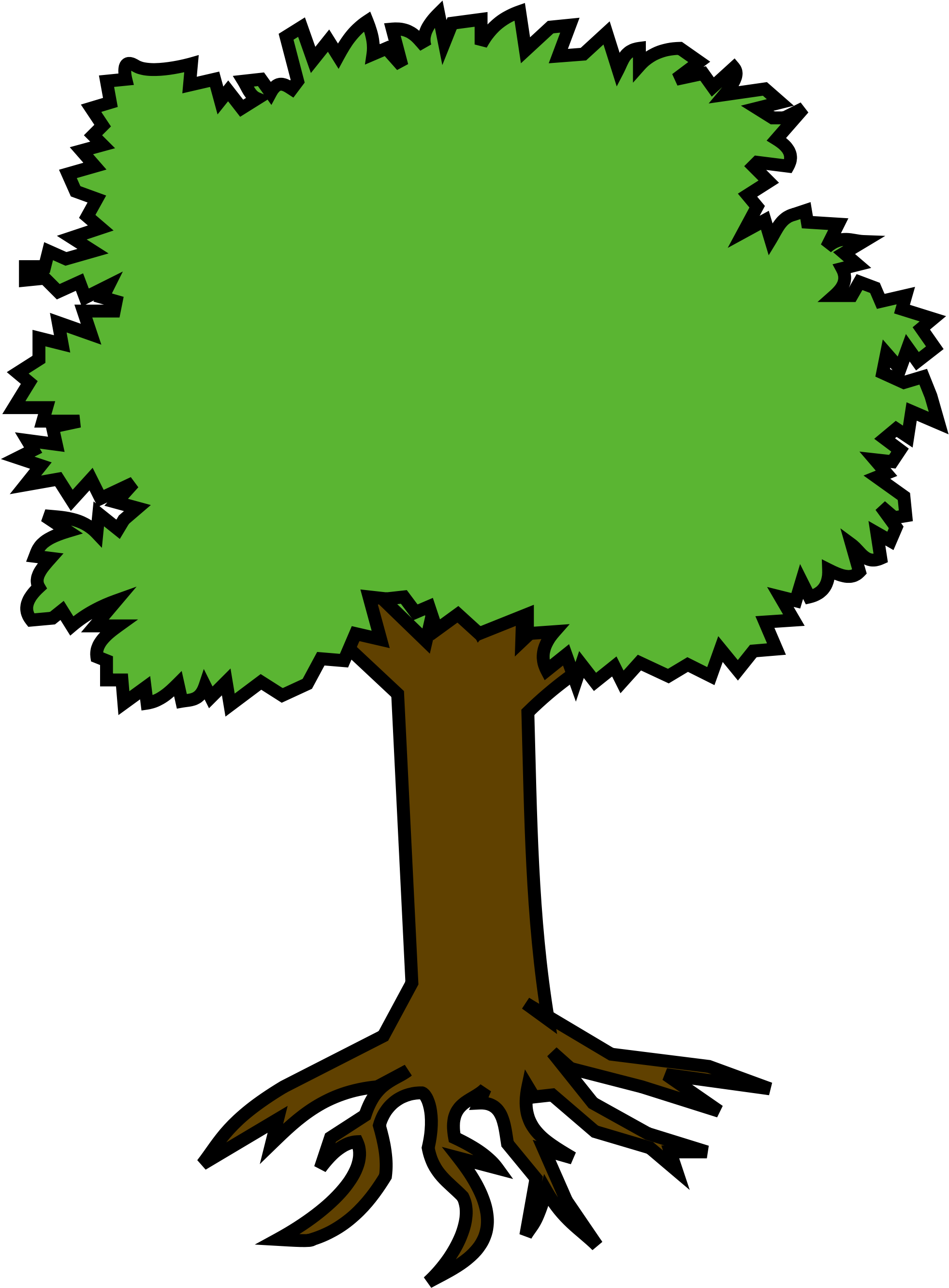 Coloriage Arbre Visage U00e0 Imprimer Pokemons Clipart شجرة كليب