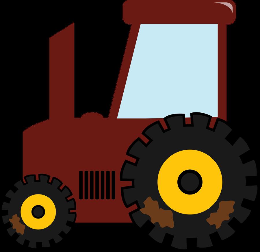 Vector Stock Fazenda Trator Fazendinha Rosa Png Clipart Full