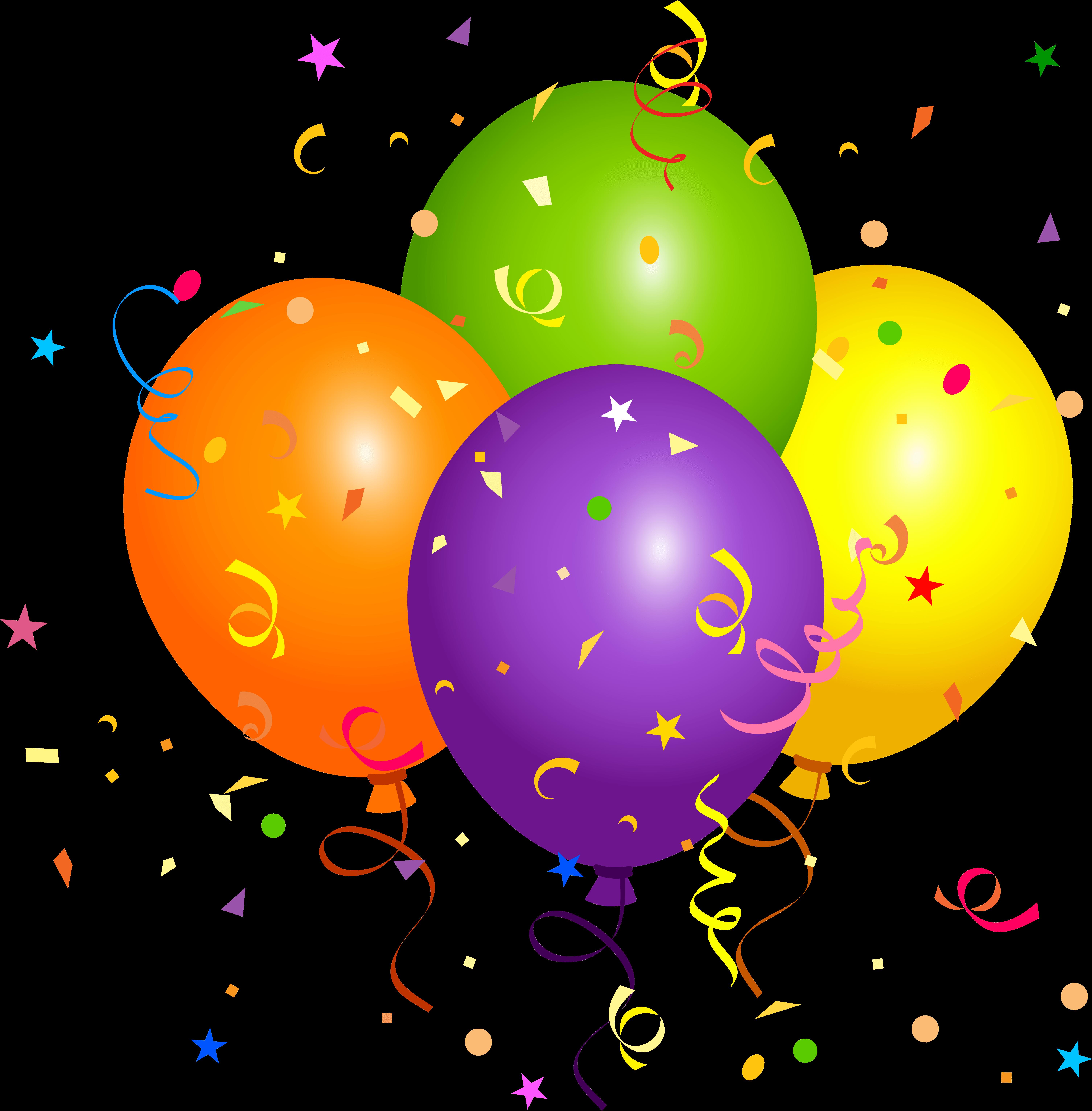 Birthday Balloons Clipart, Balloon Clipart, Happy Birthday ... (6021 x 6130 Pixel)