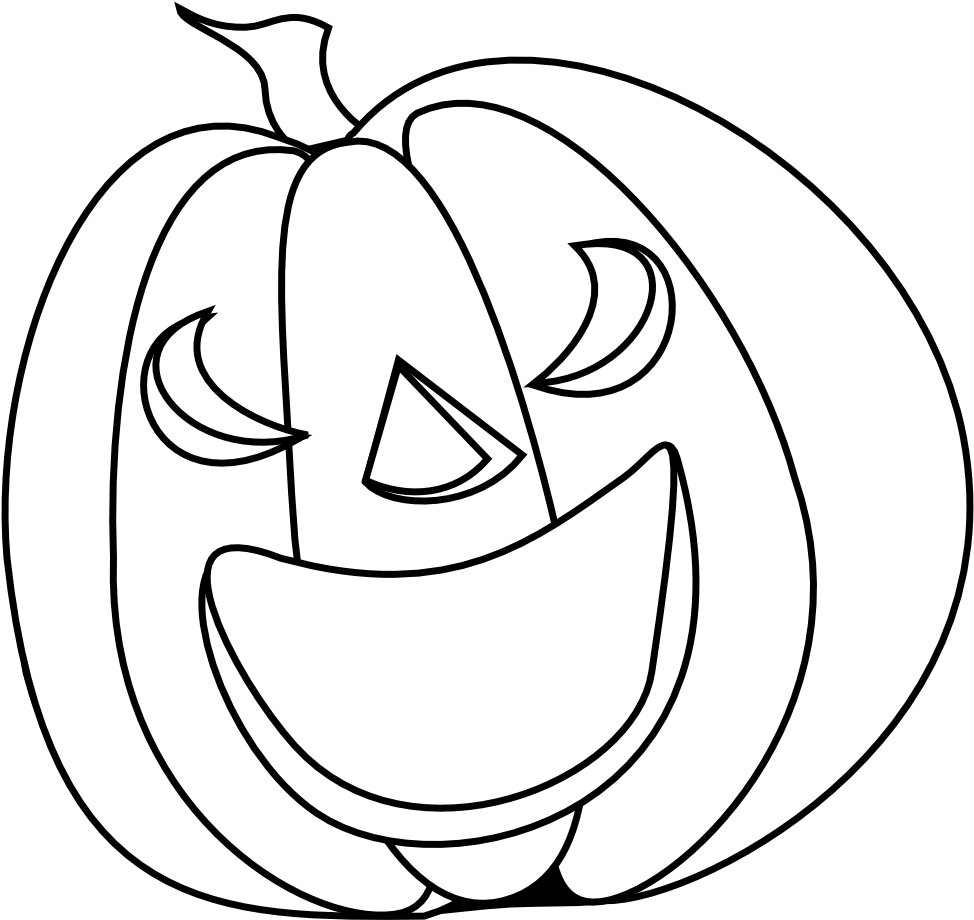 Halloween Pumpkin Smile Halloween Black White Line Line Drawing Pumpkin Clip Art Png Download Full Size Clipart 76671 Pinclipart