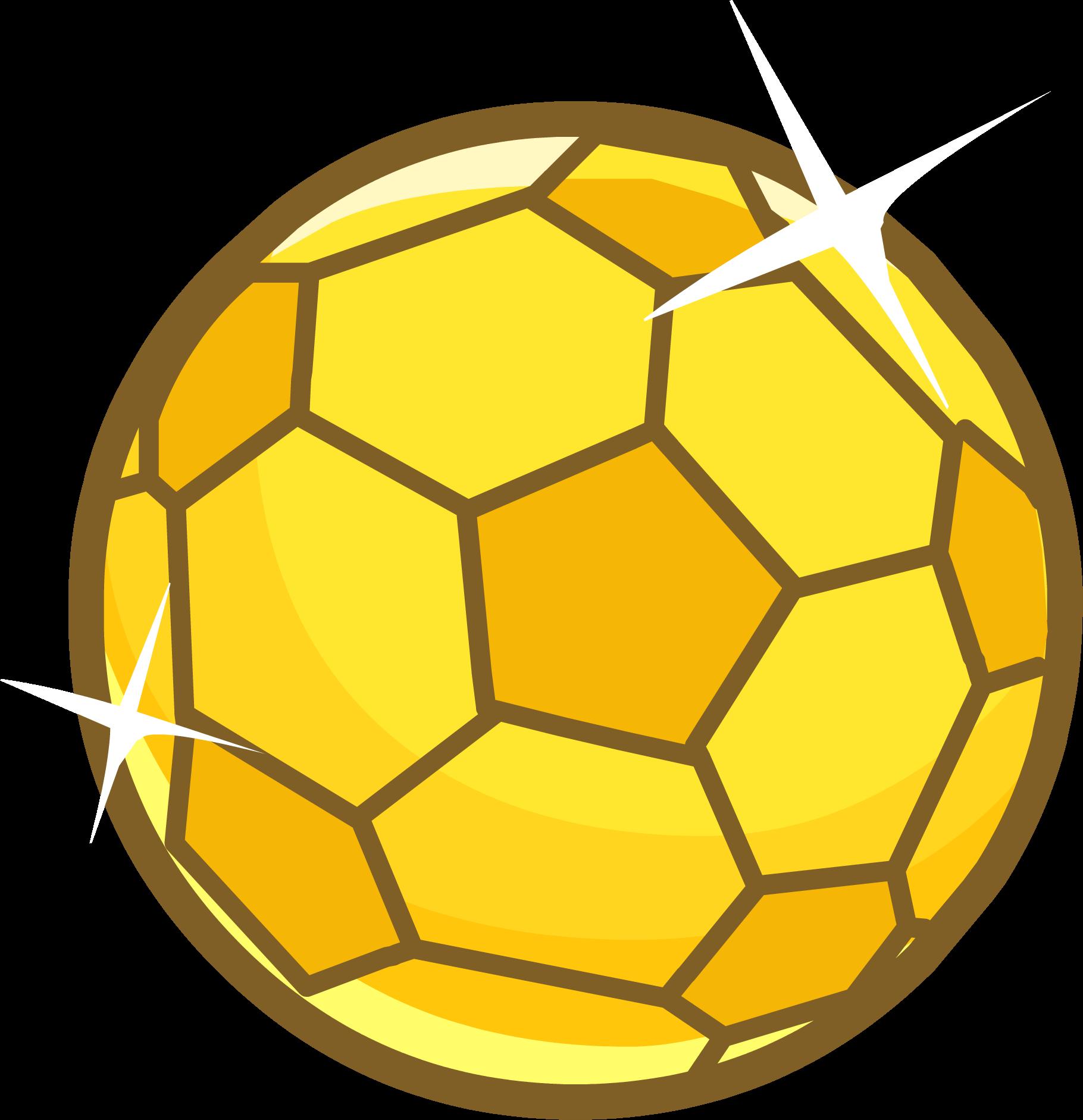 Golden Clipart Soccer Ball - Golden Soccer Ball Png ...
