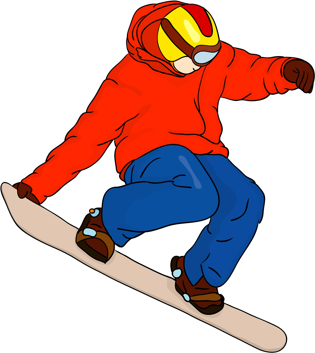 Snowboarder Drawing Cartoon Cartoon Snowboarder Clipart Full Size Clipart 716829 Pinclipart