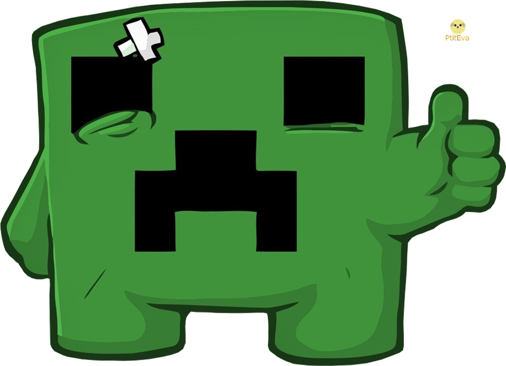 Minecraft Free Transparent Logos Super Meat Boy Creeper Clipart