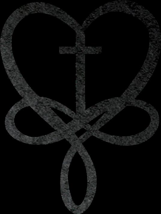 Cross Tattoo Transparent: Heart Infinity Metal Wall Art