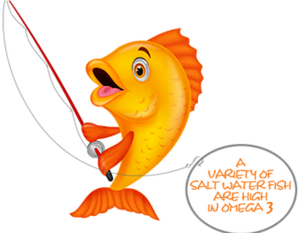 Fish Holding A Fishing Rod Clipart Full Size Clipart