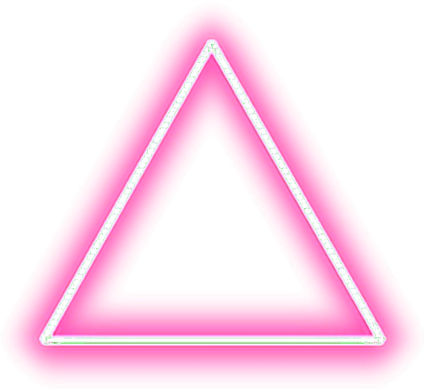 Neon Lights Png Picture Free Library - Picsart Triangle Png