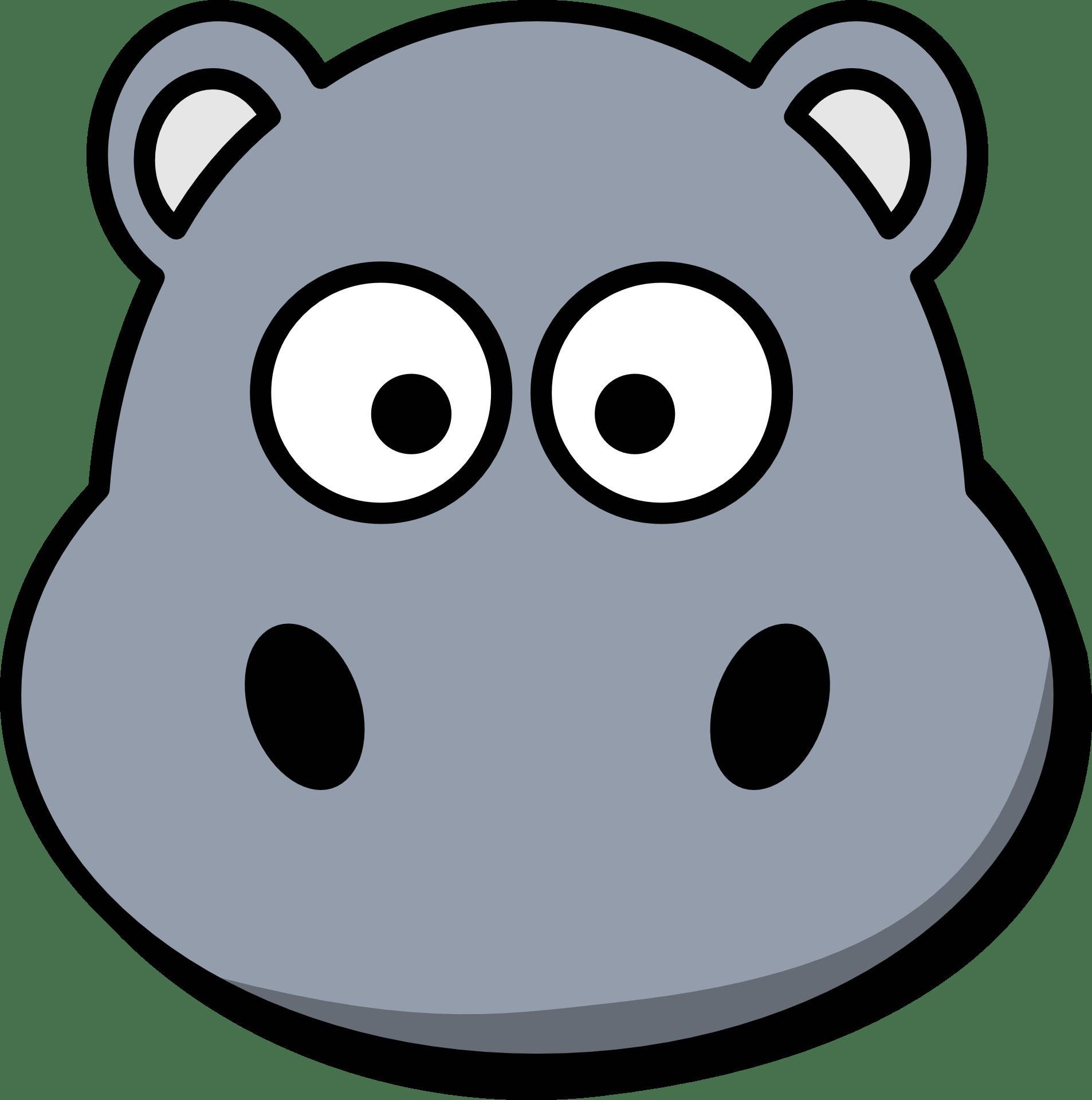 hippo face template - HD1906×1920