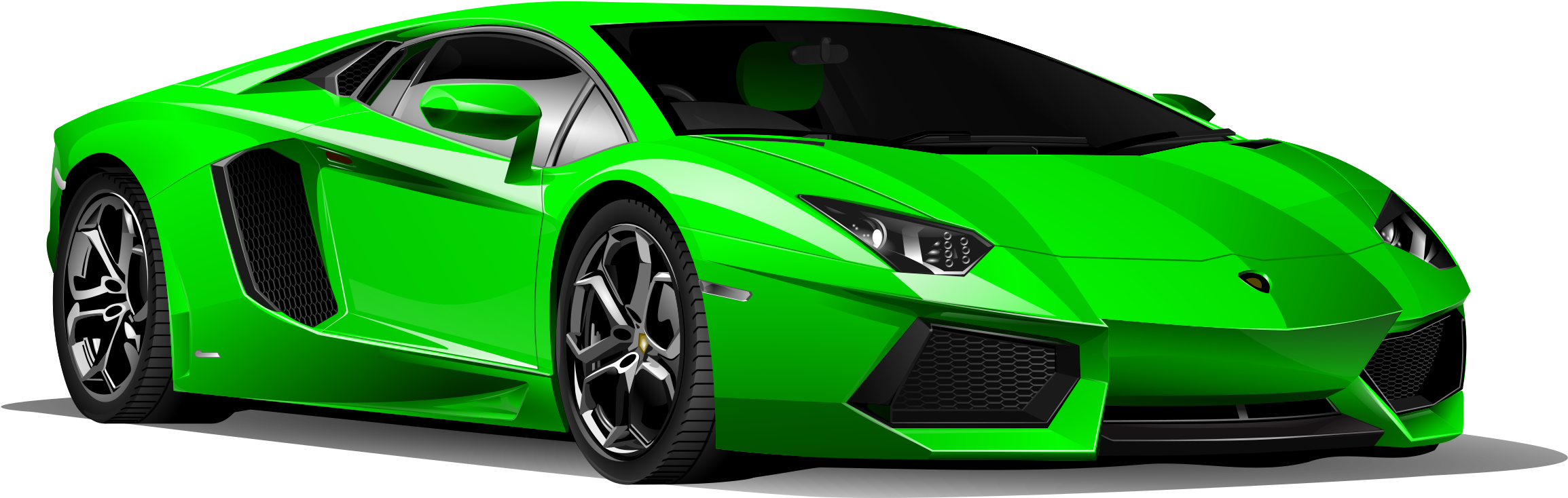 Lamborghini Clipart Sportscar Green Car Png Download Full Size Clipart 788497 Pinclipart