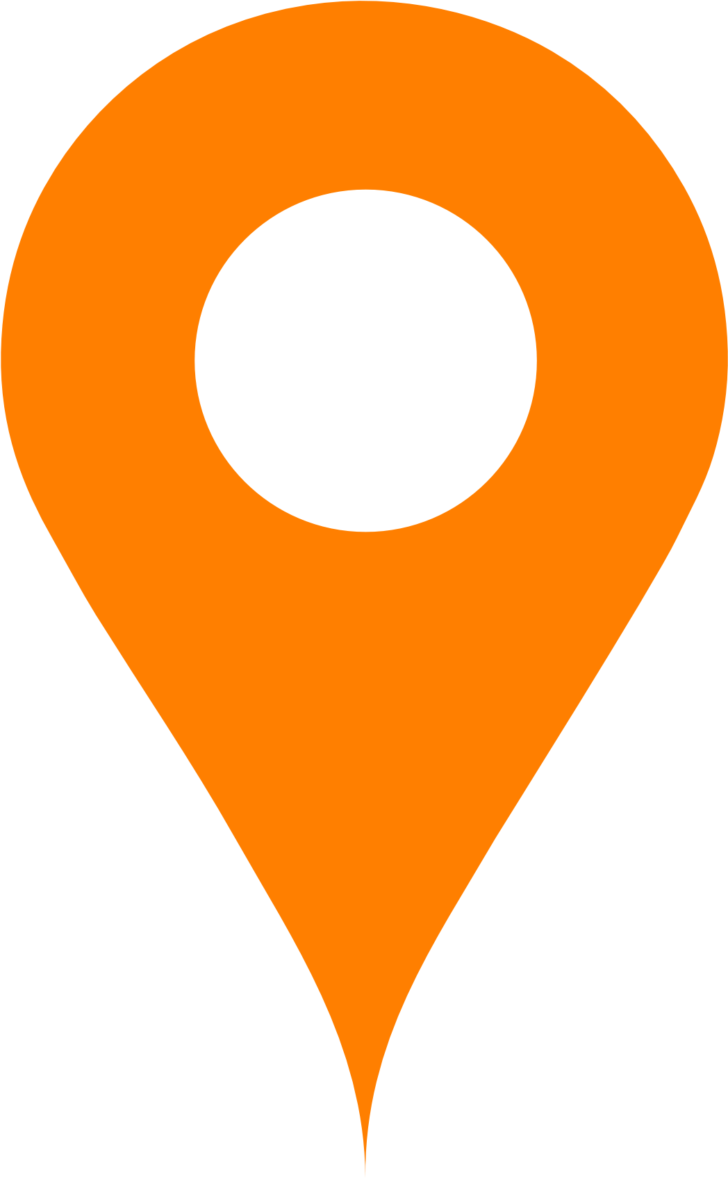 Orange Map Pin - Orange Location Icon Png Clipart - Full ...