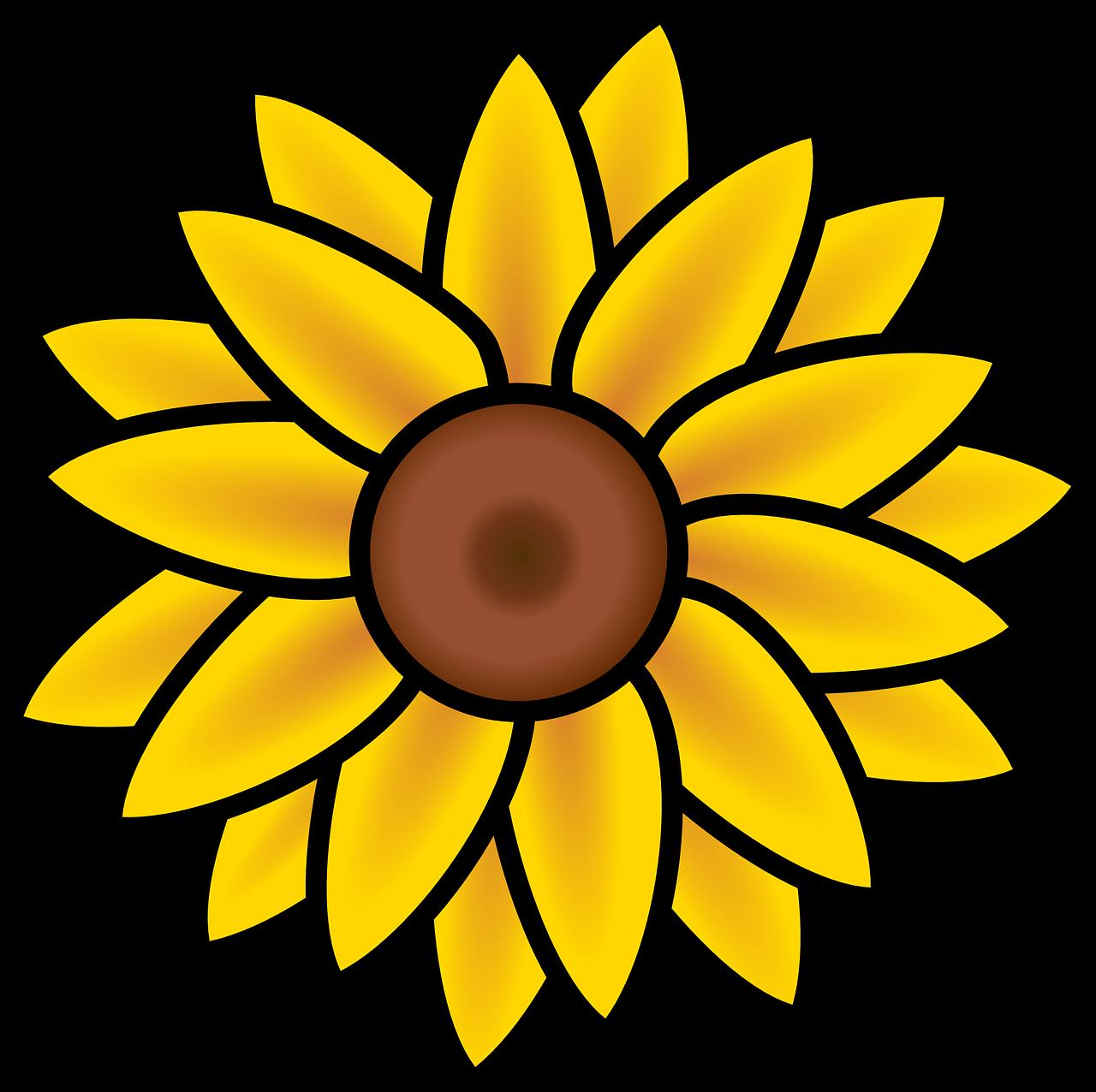 Banner Royalty Free Download Sunflower Clipart Gambar Bunga Matahari Kartun Png Download Full Size Clipart 89336 Pinclipart