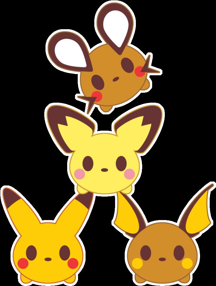 Tsum Tsum X Pika Family By Itachi Roxas Pichu Pikachu Raichu