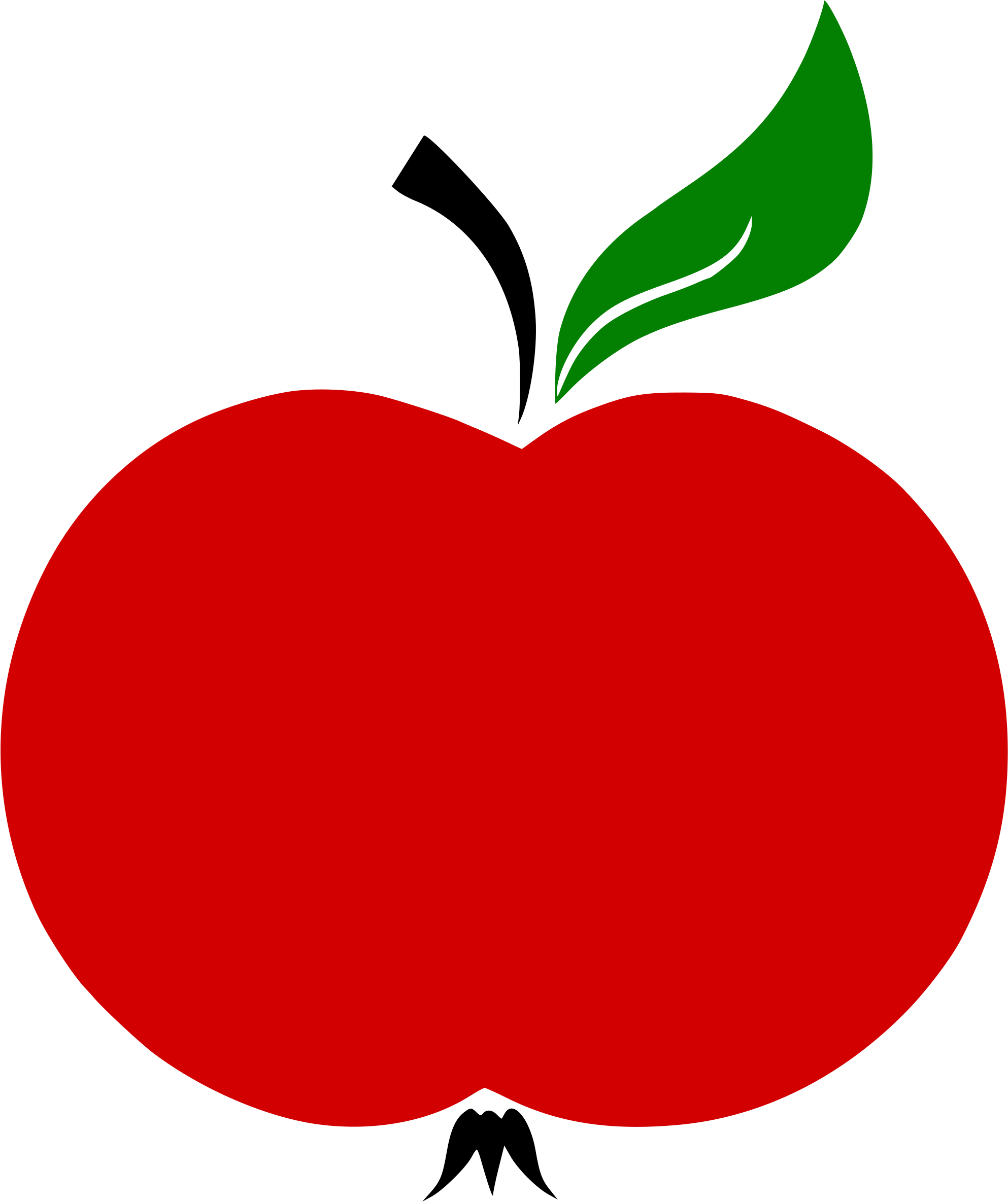 Apple Stem And Leaf Vector Clipart - Full Size Clipart ...