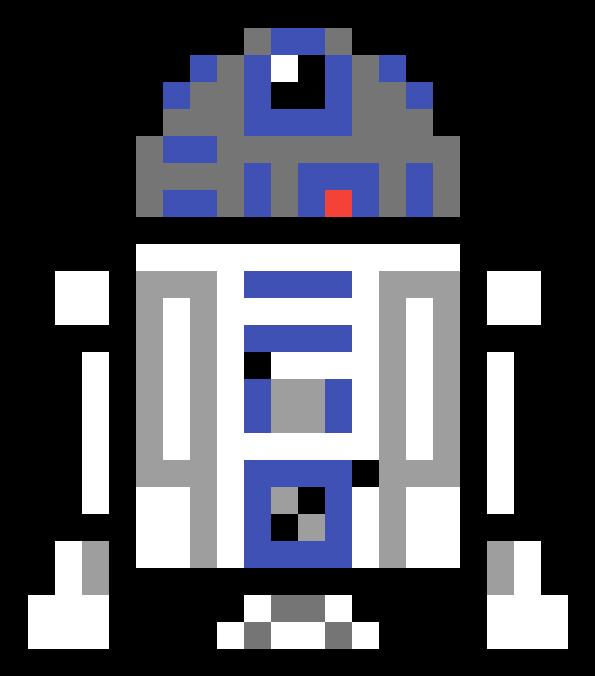 R2d2 Pixel Art Star Wars R2d2 Clipart Full Size Clipart
