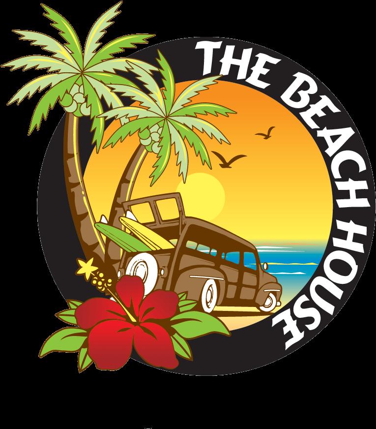 Beach House New Logo Red Flower Lb Rvc Beach House Long Beach Clipart Full Size Clipart 856960 Pinclipart