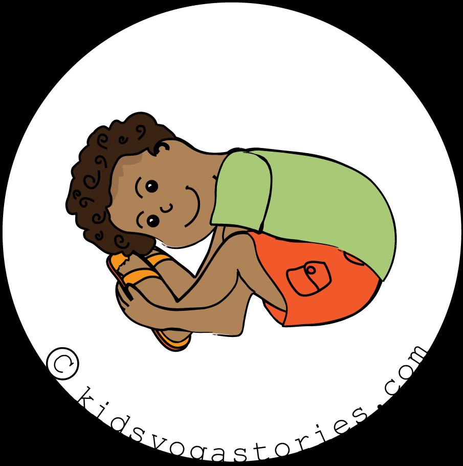 Tortoise Pose For Kids Family Yoga Clipart Full Size Clipart 857714 Pinclipart