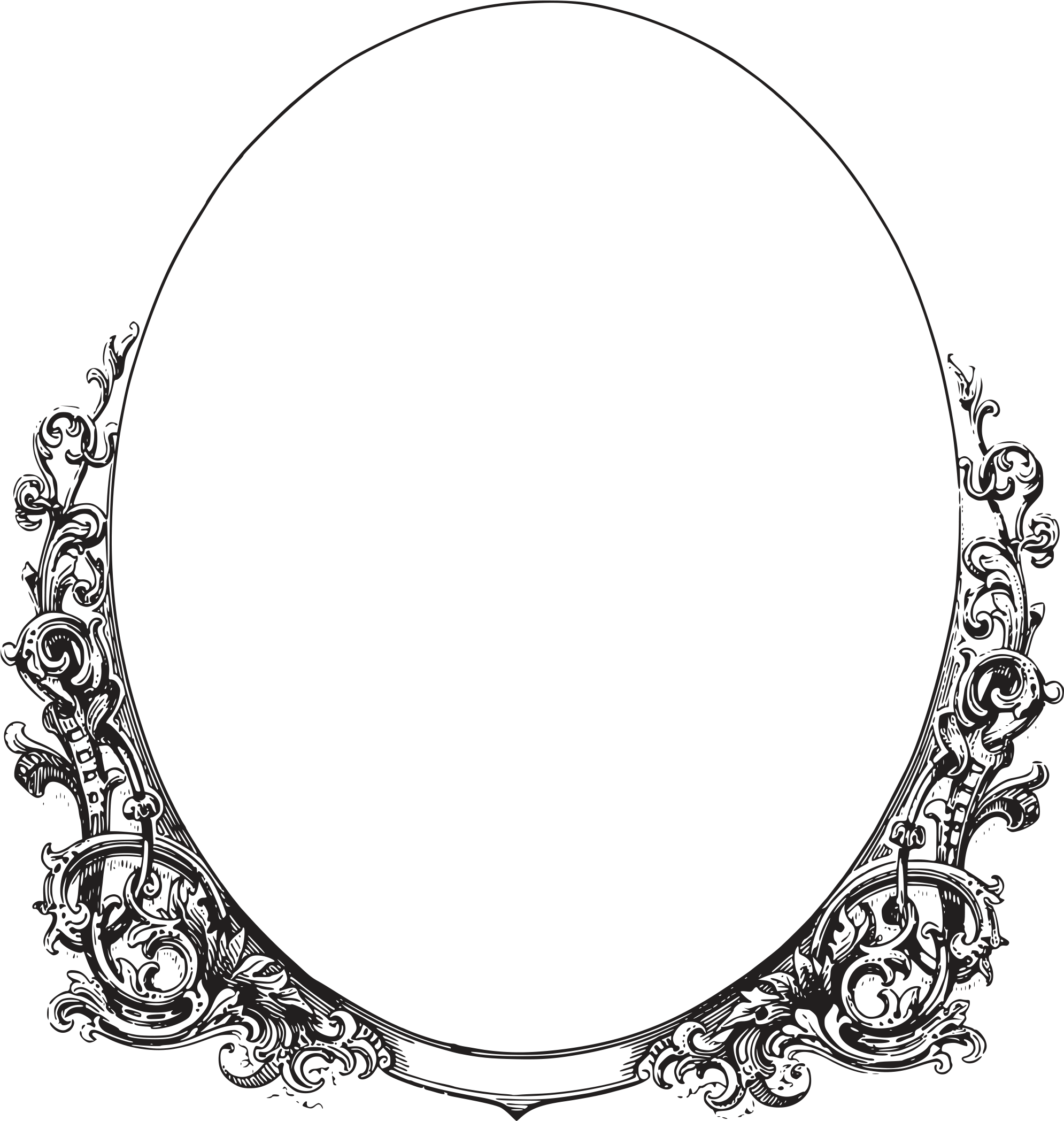 Stock Vector - Oval Frame Vector Png Clipart - Full Size ...