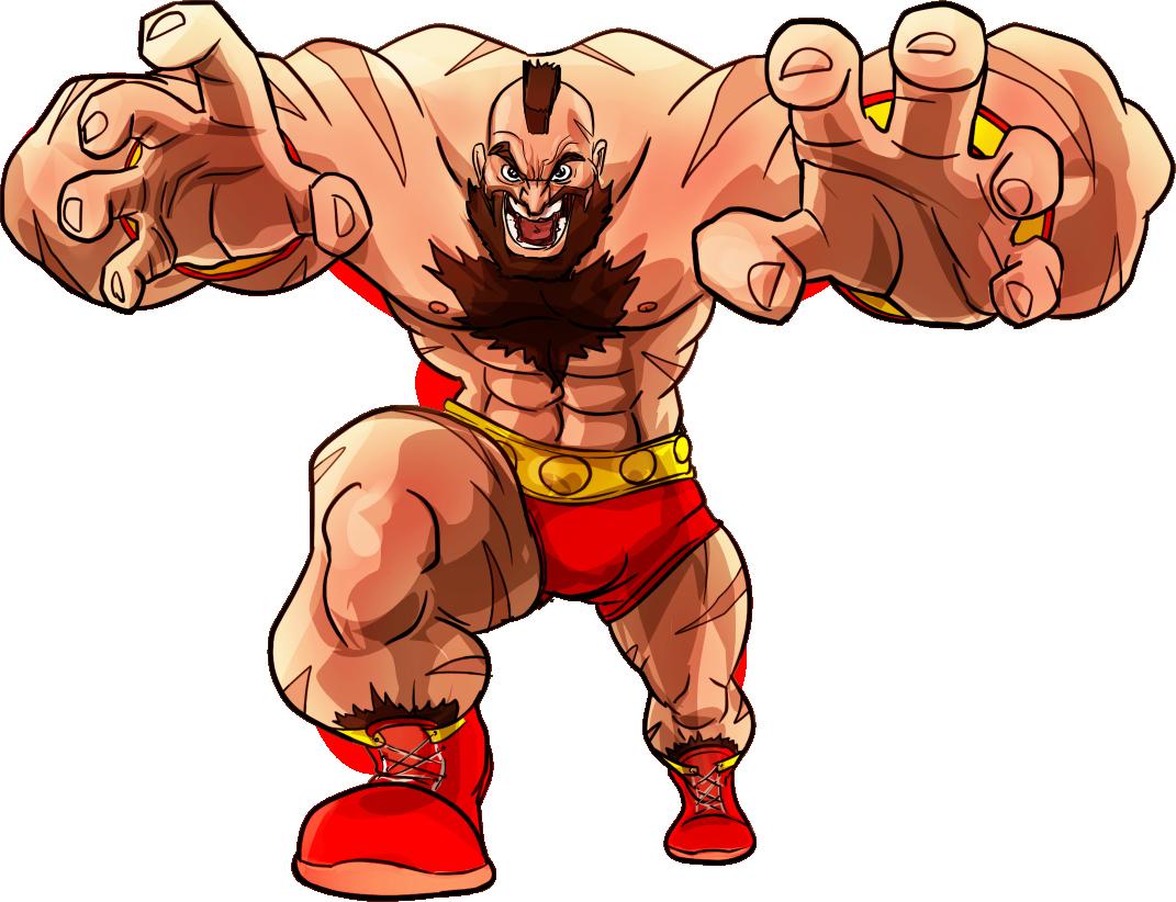 Street Fighter Zangief Zangief Street Fighter Png Clipart Full
