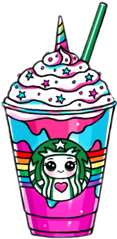 Kawaii Drink Drinks Unicorn Horn - Starbucks Unicorn ...
