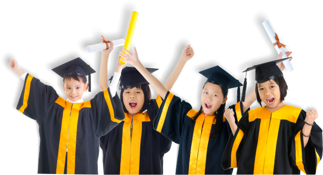 Kids Transparent Graduation - Kids Graduation Clipart - Full