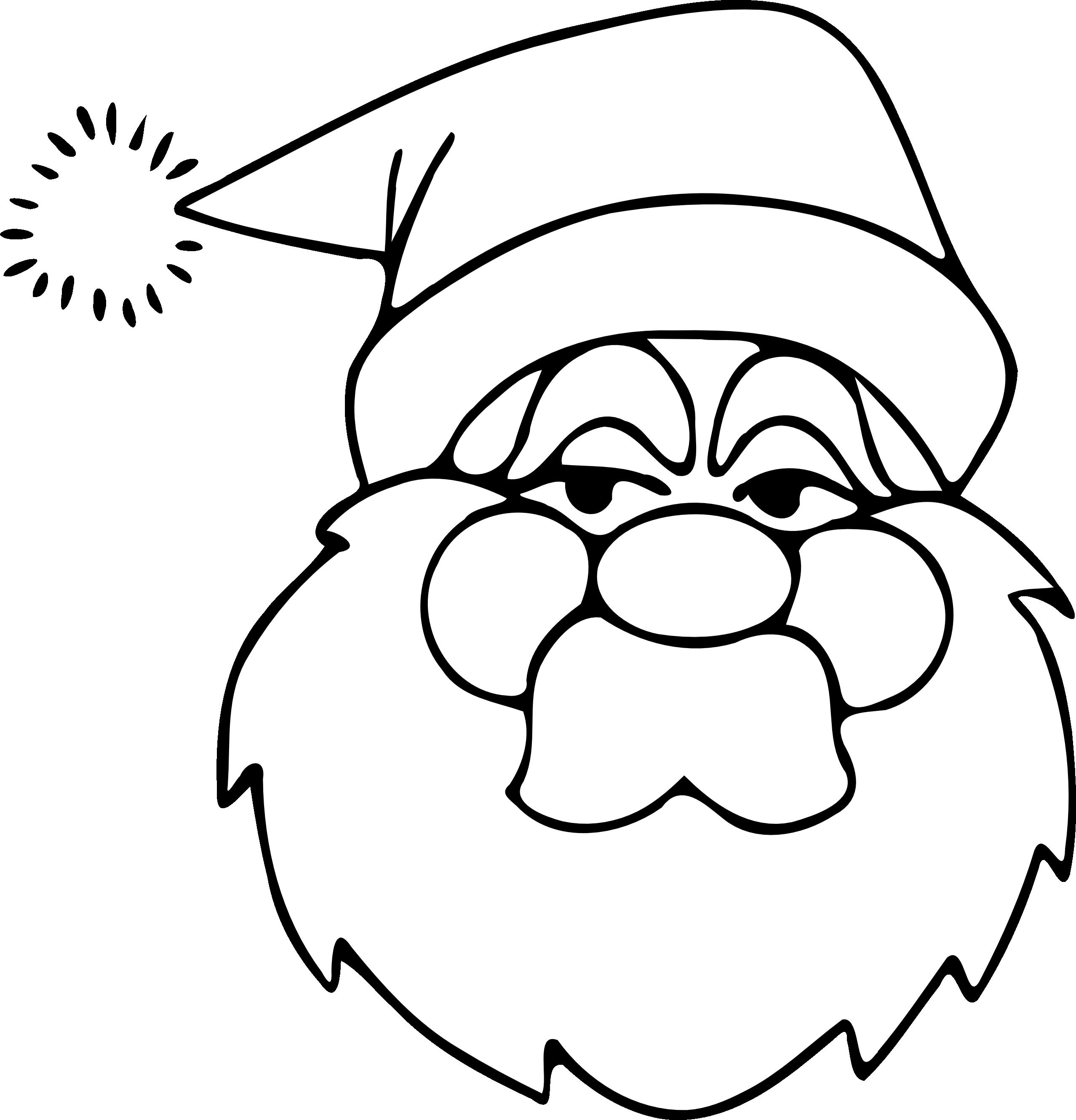 weihnachtsmann gesicht malvorlage - ausmalbilder