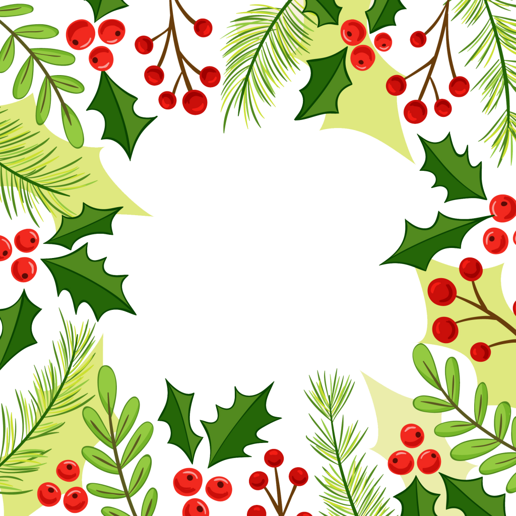 Christmas Holly Border Png Christmas Corner Border