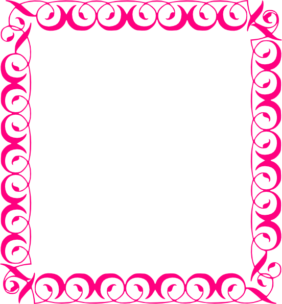 Pink Floral Borders Border Clip Art Png Download Full Size Clipart 98832 Pinclipart