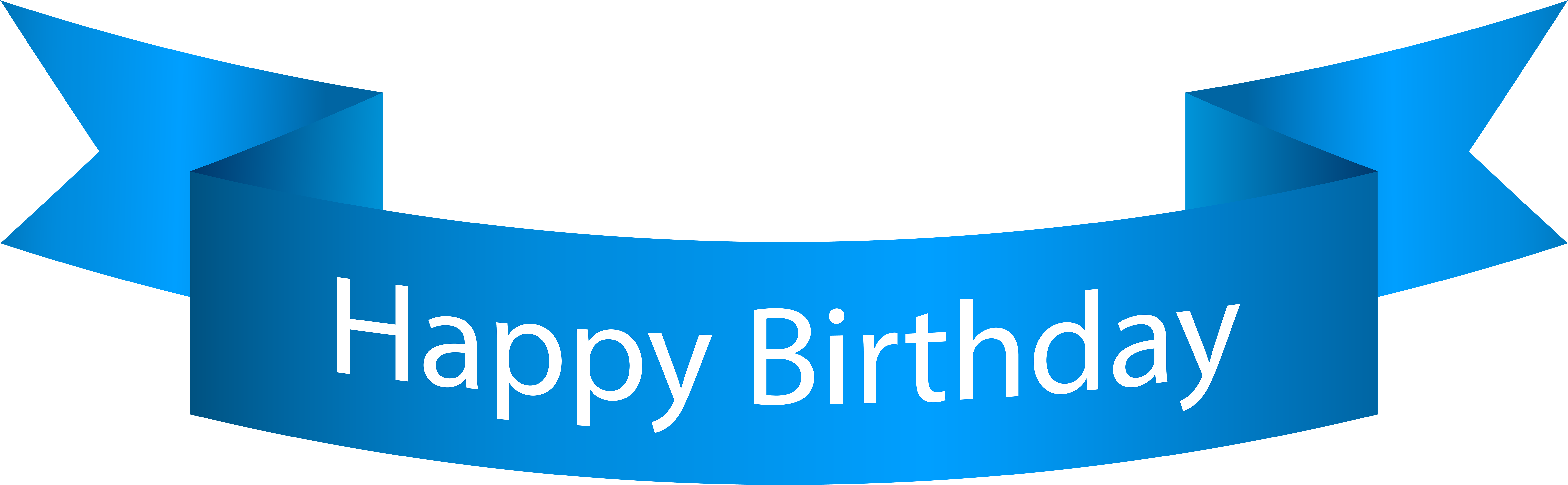 Clip Art Happy Birthday Banner Blue Png Transparent Png Full