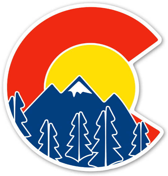 Sweet Colorado Flag And Mountain Sticker Colorado Sticker Clipart Full Size Clipart 937431 Pinclipart