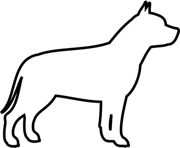Pit Bull Rubber Stamp Outline Of A Pitbull Clipart Full Size Clipart 940427 Pinclipart